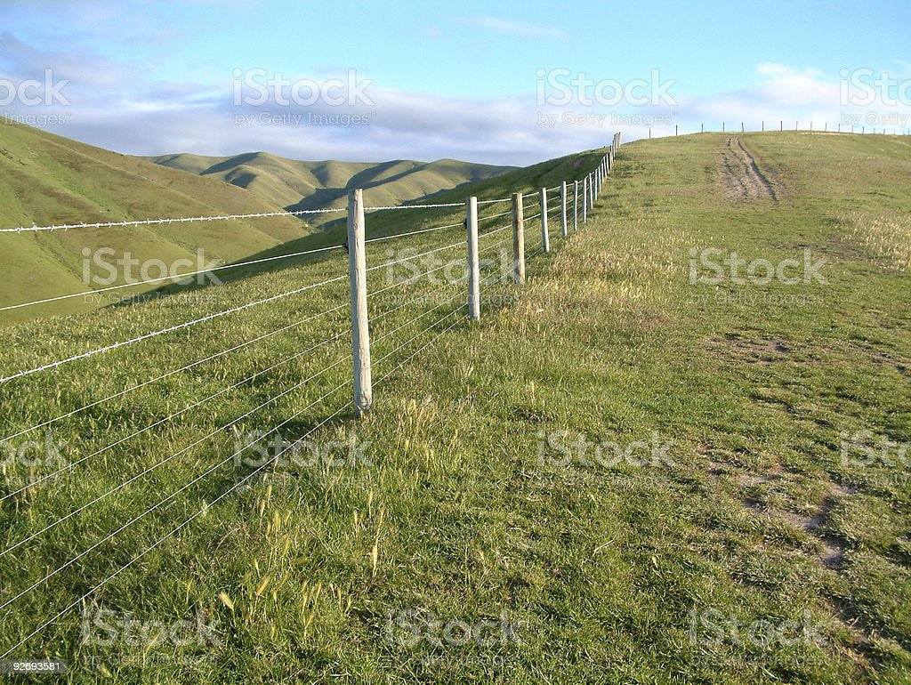 Hill Top Fence royalty-free stock photo