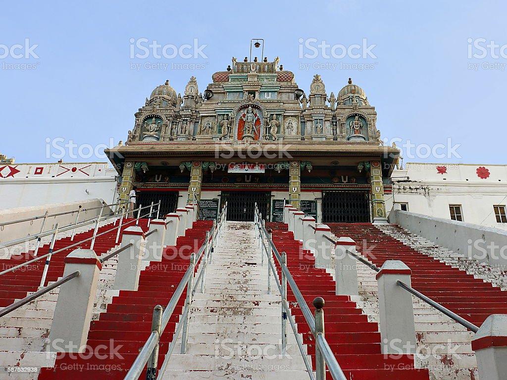Hill Top Hindu Temple stock photo