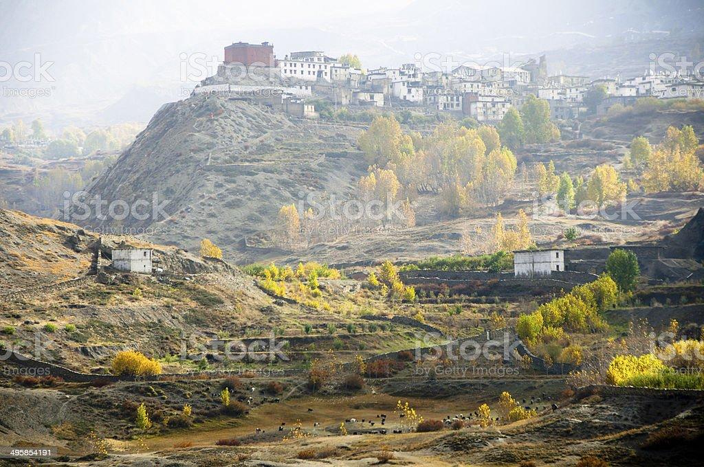 Hill Top Monastery stock photo