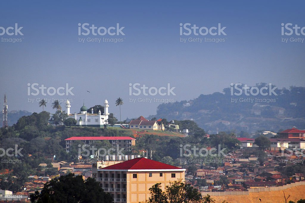 Hill top mosque, Kampala, Uganda stock photo