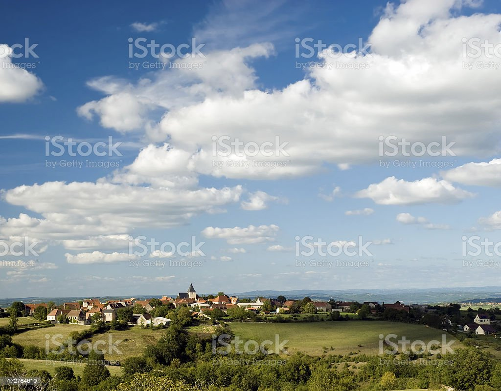 Hill Top Village in the Dordogne, France stock photo