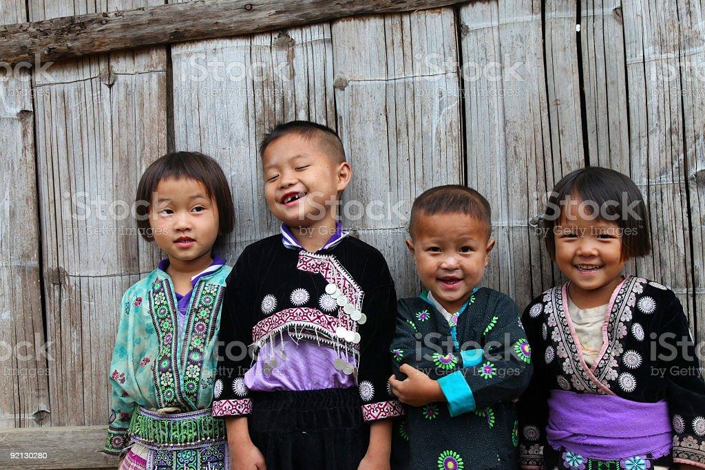 Hill tribe gang stock photo