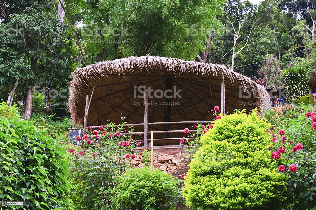 Hill tribe hut in Thailand royalty-free stock photo