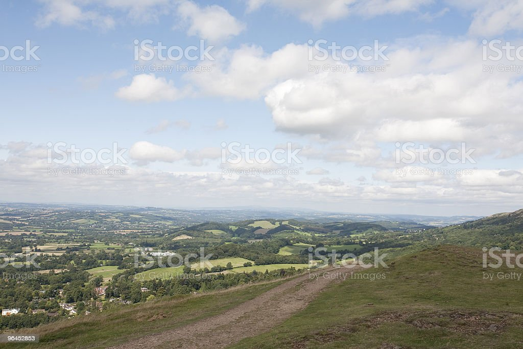 hill walk stock photo
