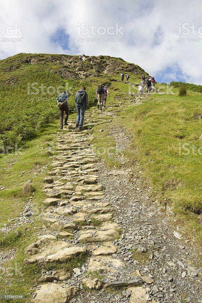 Hill walking royalty-free stock photo