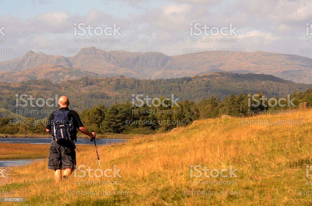 Hill Walking stock photo