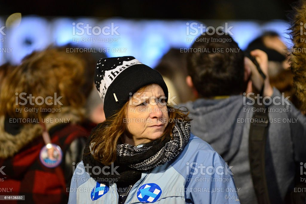 Hillary Clinton and Tim Kaine Campaign Together in Philadelphia, Pennsylvania stock photo