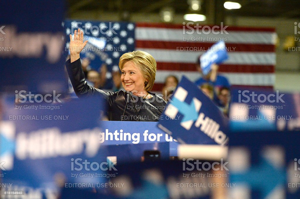 Hillary Clinton Campaign stock photo