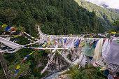 Hillary Suspension Bridge, Everest region, Nepal