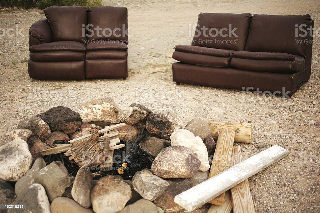 Hillbilly Fireplace stock photo