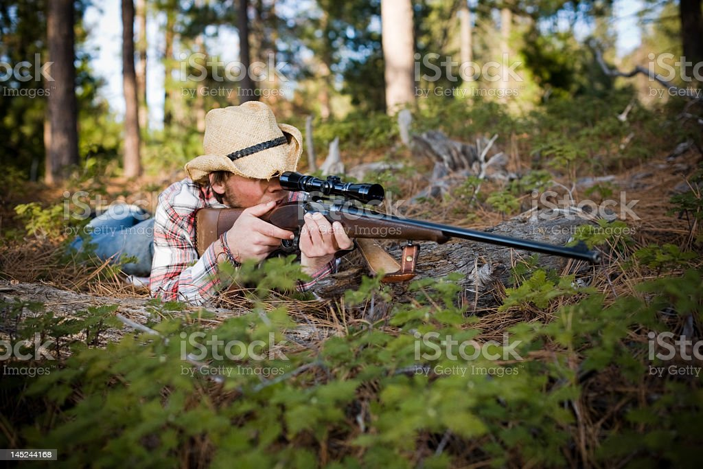 Hillbilly Hunter snipes royalty-free stock photo