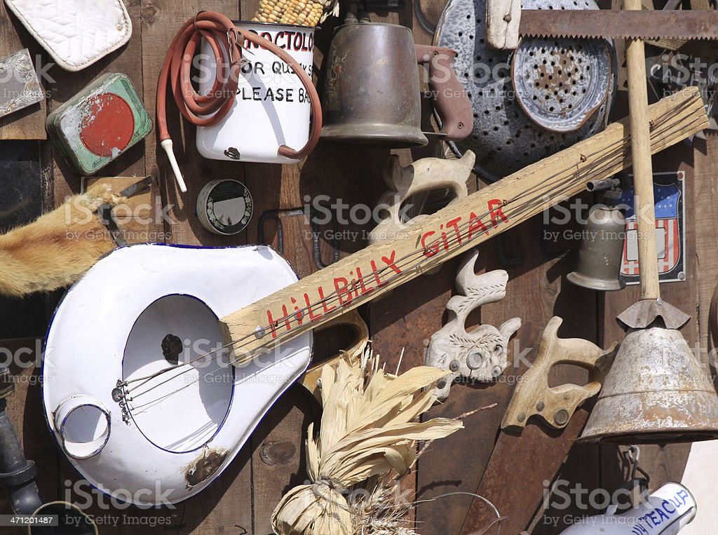 Hillbilly/Country Artifacts stock photo