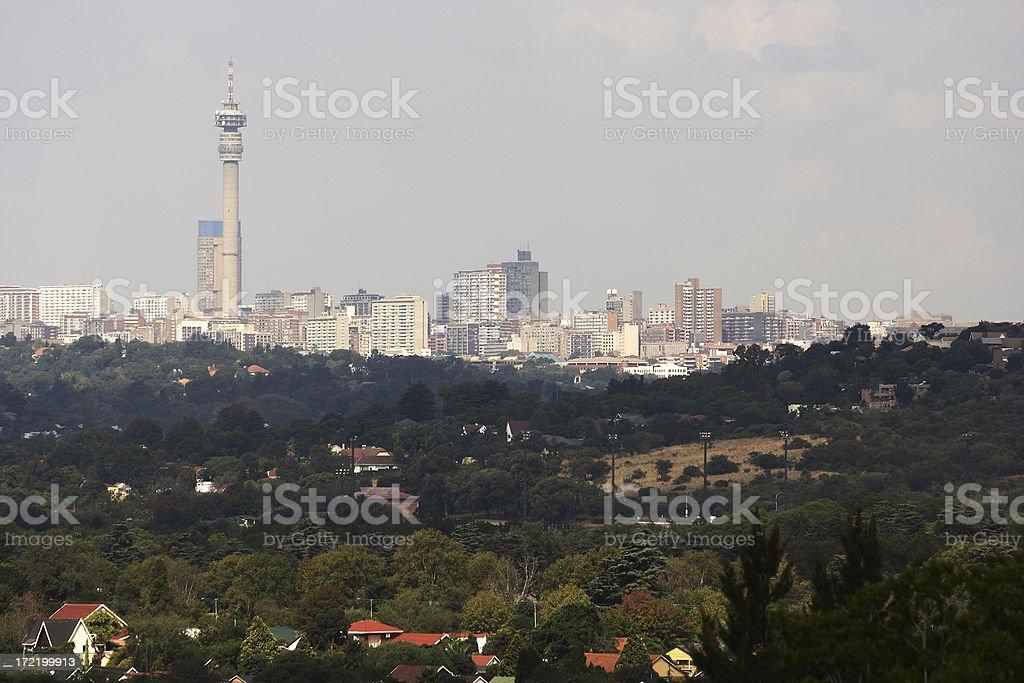 Hillbrow and Johannesburg CBD royalty-free stock photo