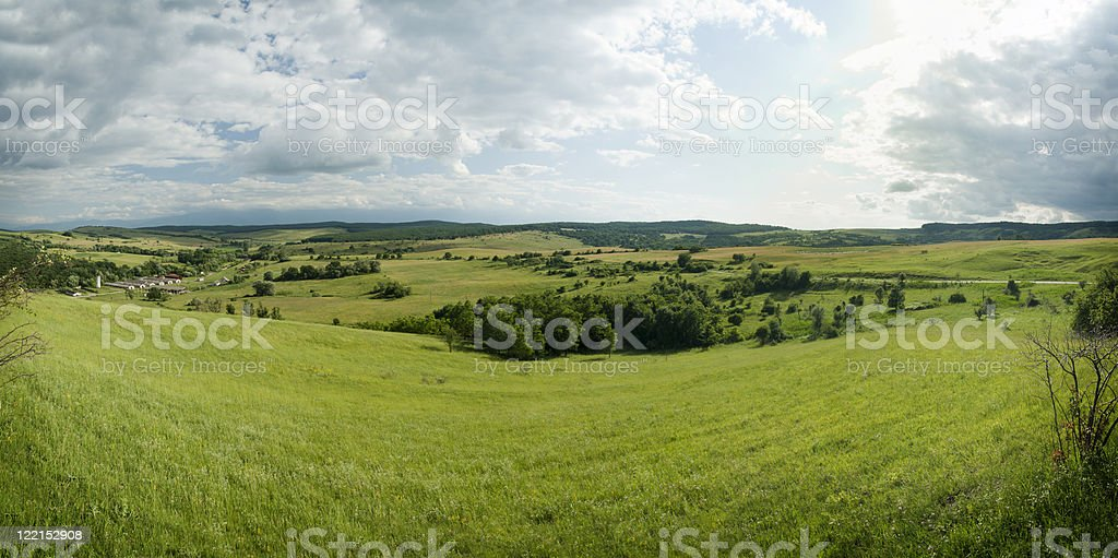 Hills and landscapes from Romania stock photo
