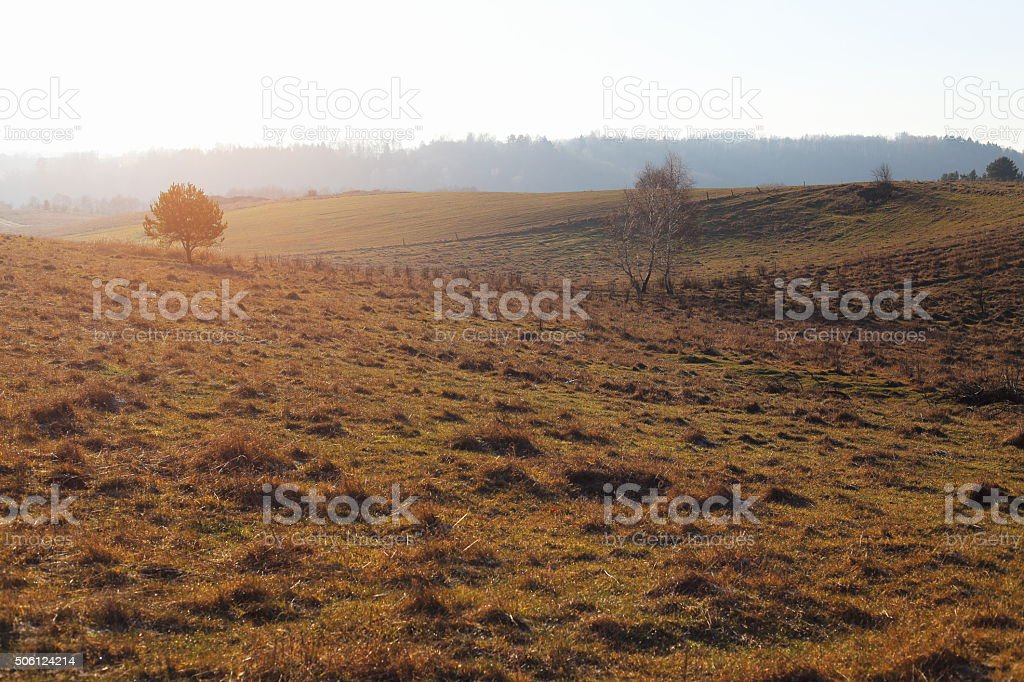 hills and meadows royalty-free stock photo