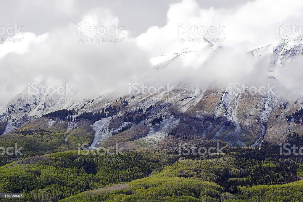 Hills and mountains royalty-free stock photo
