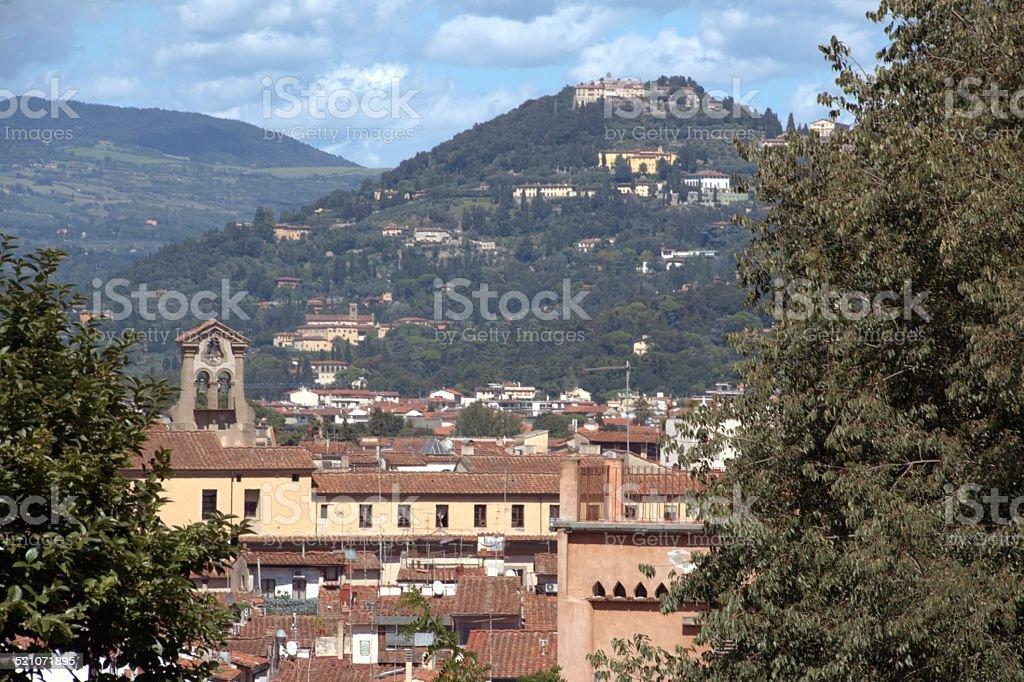 Hills around Florence, cityscape stock photo