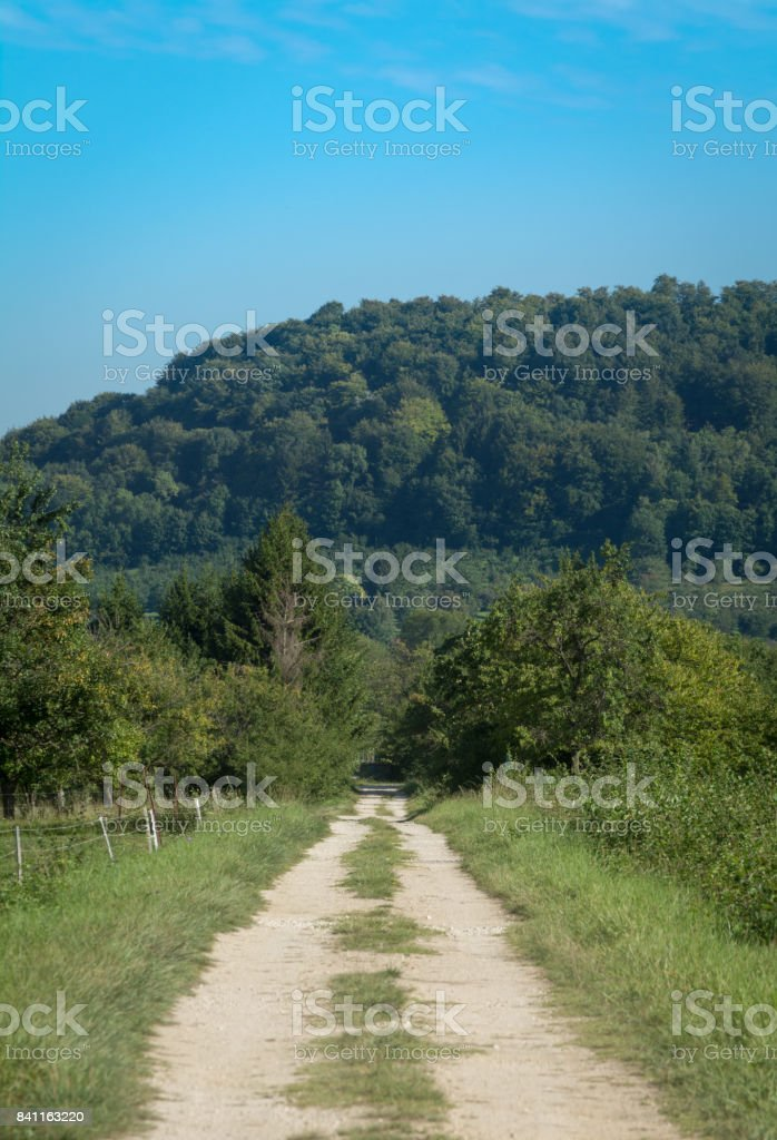 Hills around Herbeuville stock photo