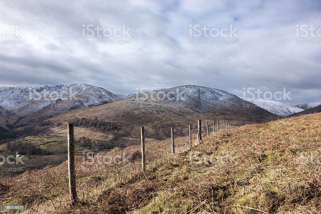 Hills Around Loch Lomond stock photo
