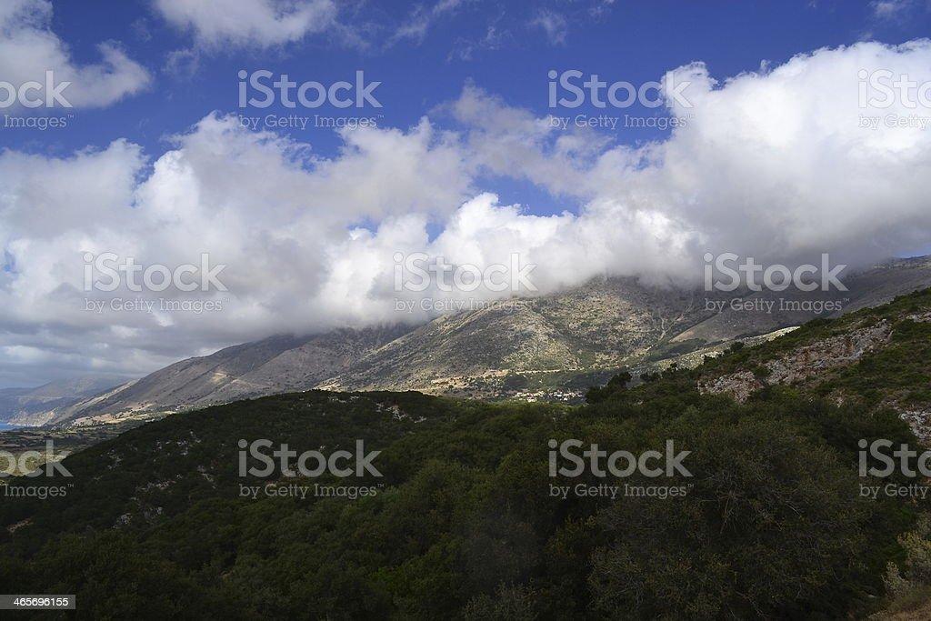 Hills at Cephalonia stock photo