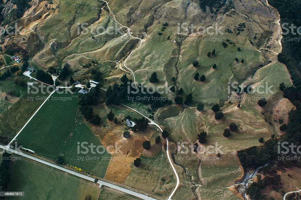 Hills from above stock photo
