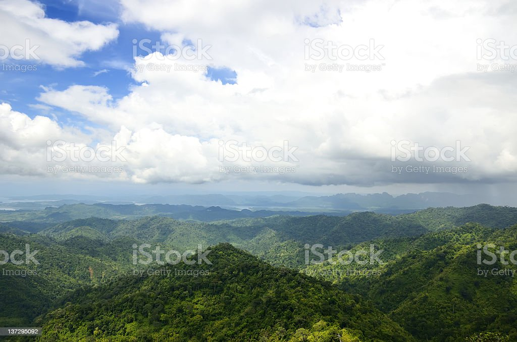 Hills in the North of Thailand royalty-free stock photo