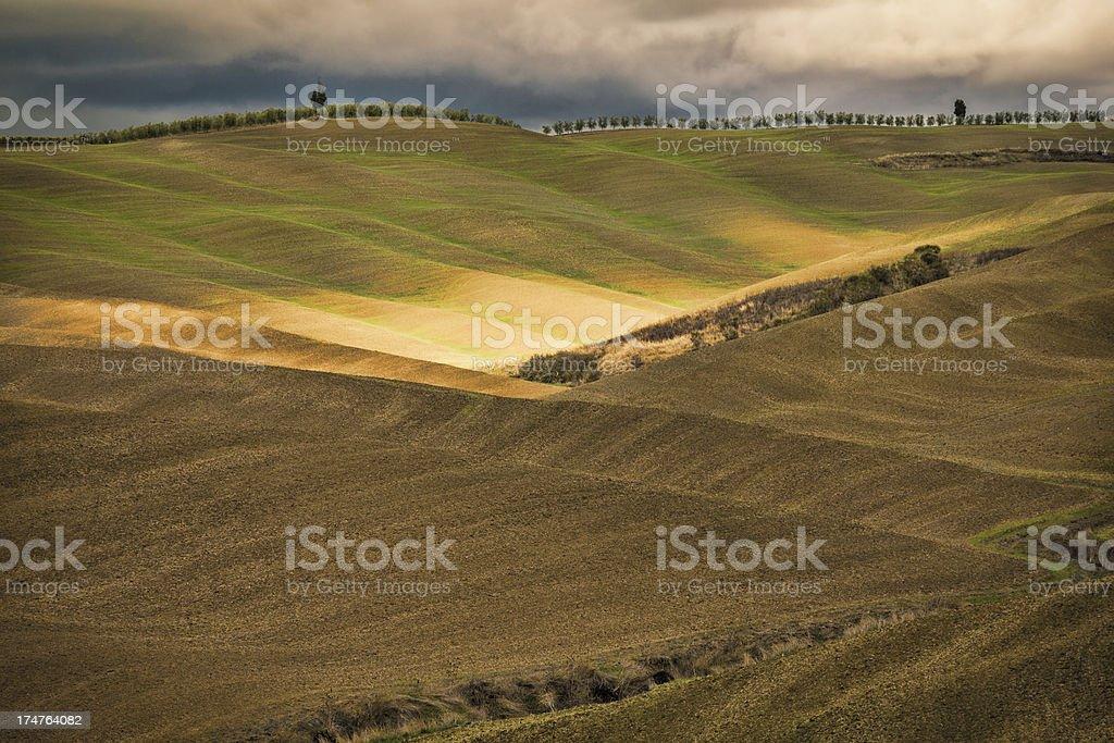 Hills in Tuscany, Chianti Region royalty-free stock photo