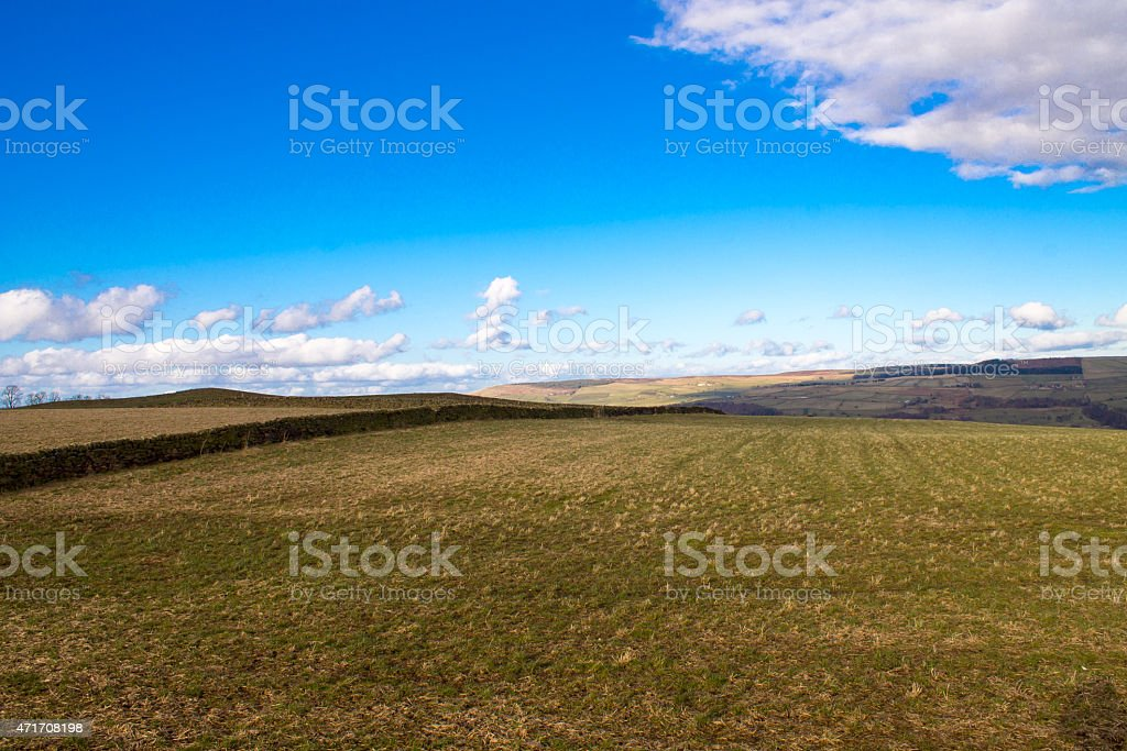 Hills in West Yorkshire stock photo