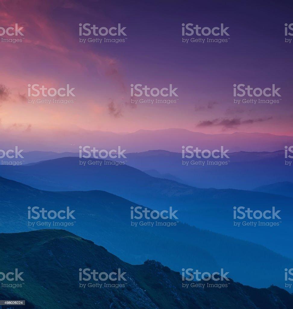 Hills lines stock photo