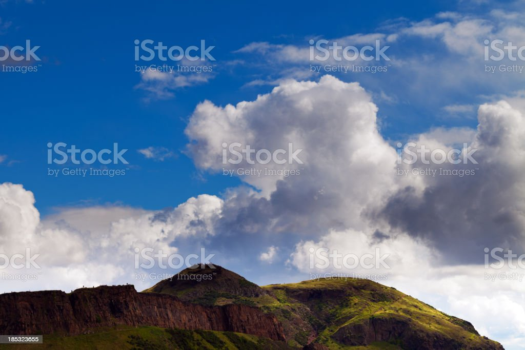 Hills near Edinburgh stock photo