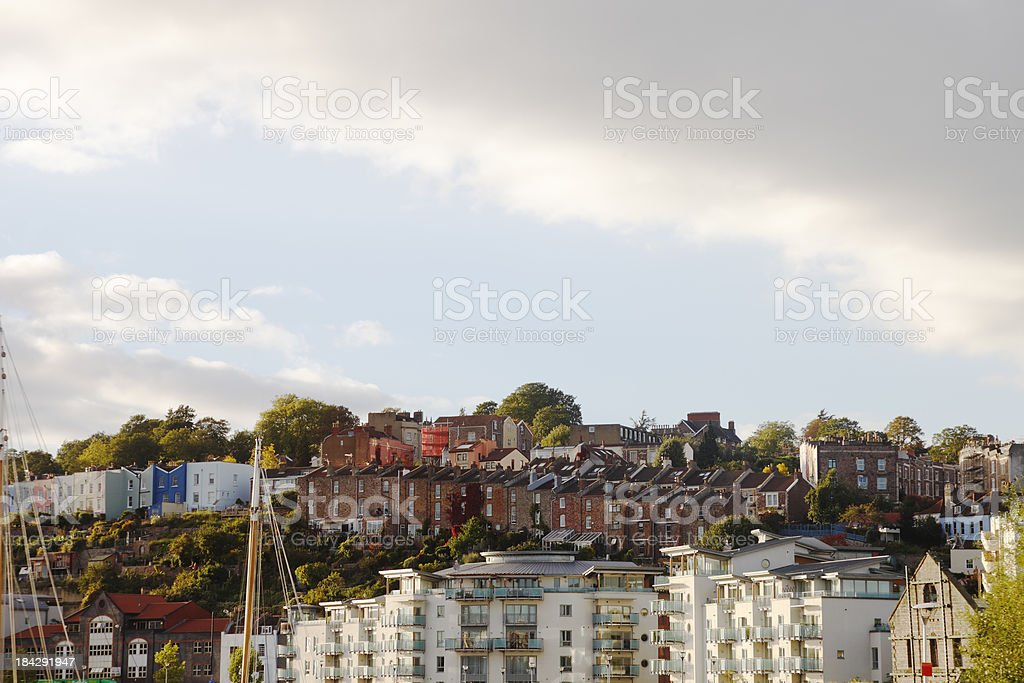 Hills of Clifton, Bristol stock photo