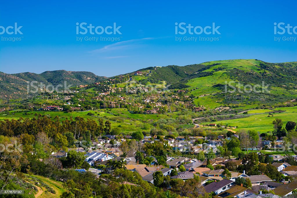 Hills of Irvine in Orange County, CA stock photo