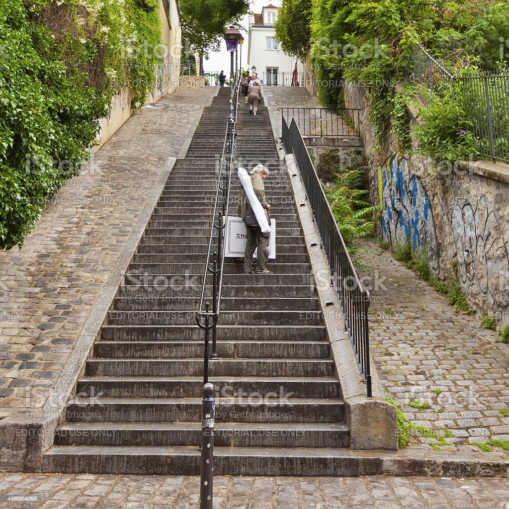 Hills of Monmartre, Paris. royalty-free stock photo