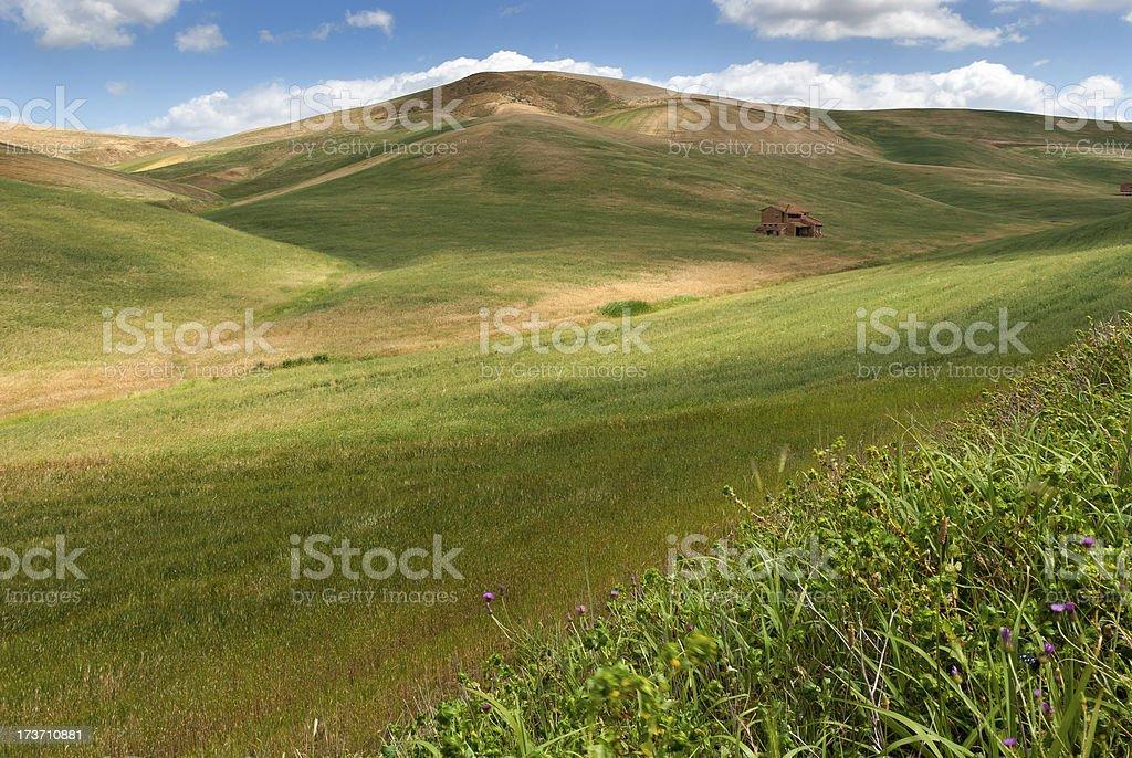 hills of Salerno stock photo