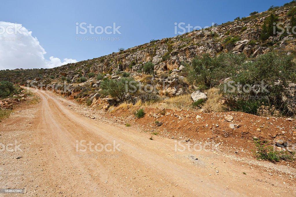 Hills of Samaria royalty-free stock photo