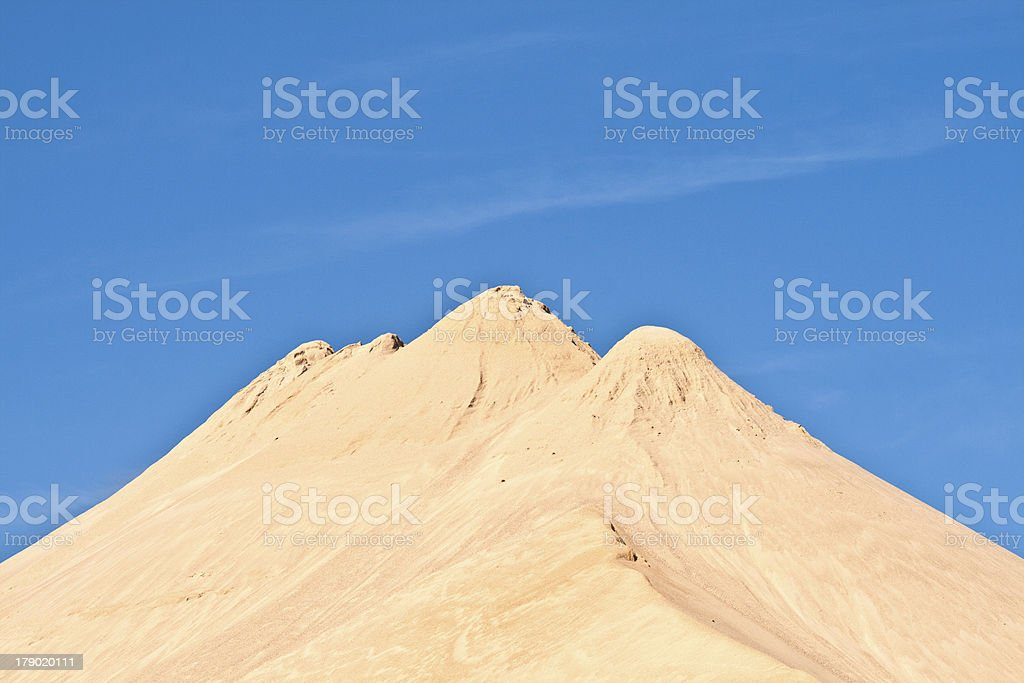 hills of sand and stone royalty-free stock photo