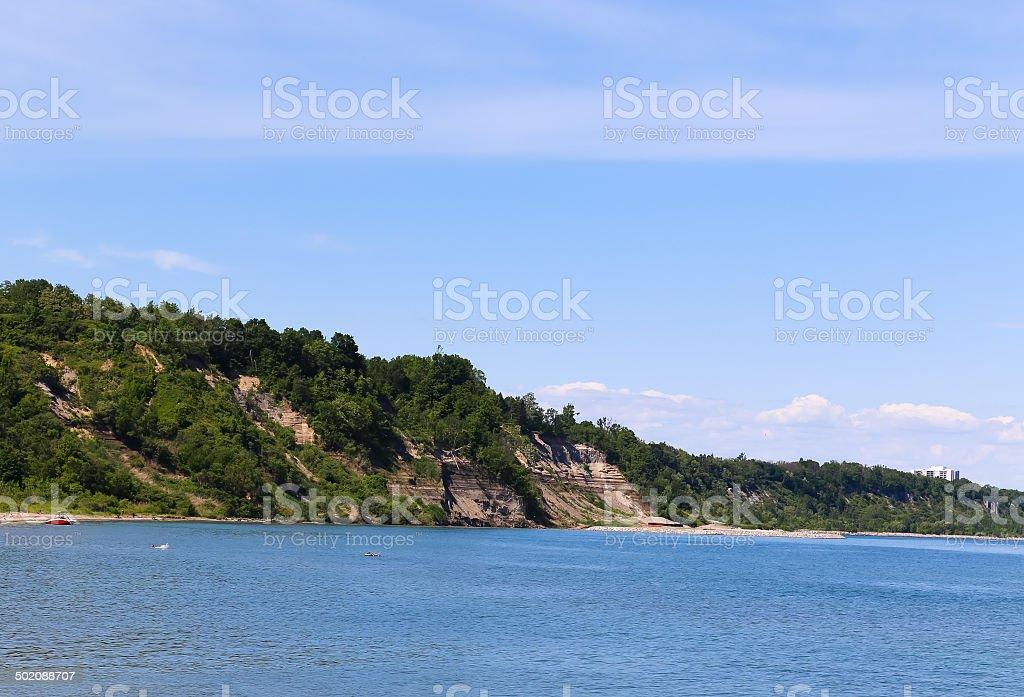 Hills on Scarborough Bluffs stock photo