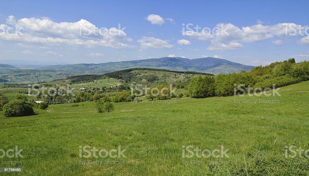 Hills Panorama stock photo