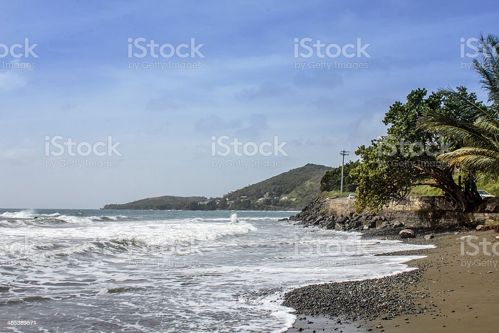 Hillsborough Bay Coastline Tobago Facing South West More Ocean stock photo