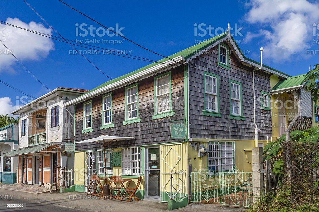 Hillsborough, Carriacou royalty-free stock photo