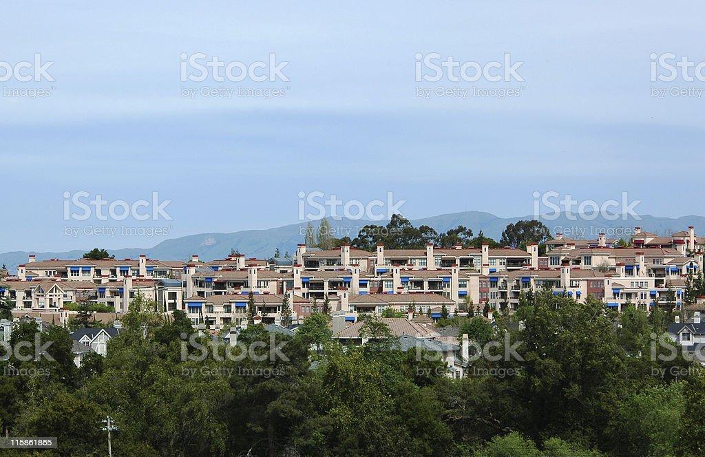 hillside housing development, Los Altos, California royalty-free stock photo