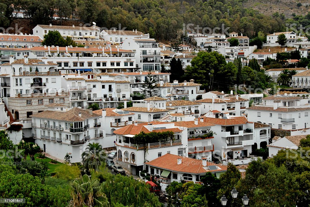 Hillside Town in Spain royalty-free stock photo
