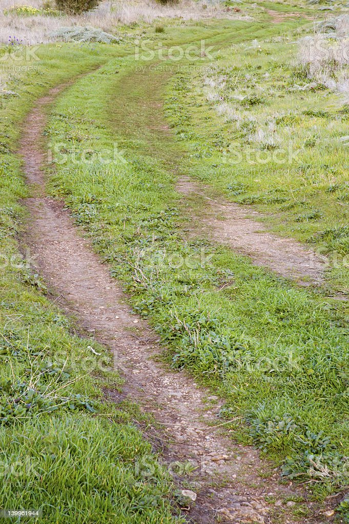 Hillside Track royalty-free stock photo