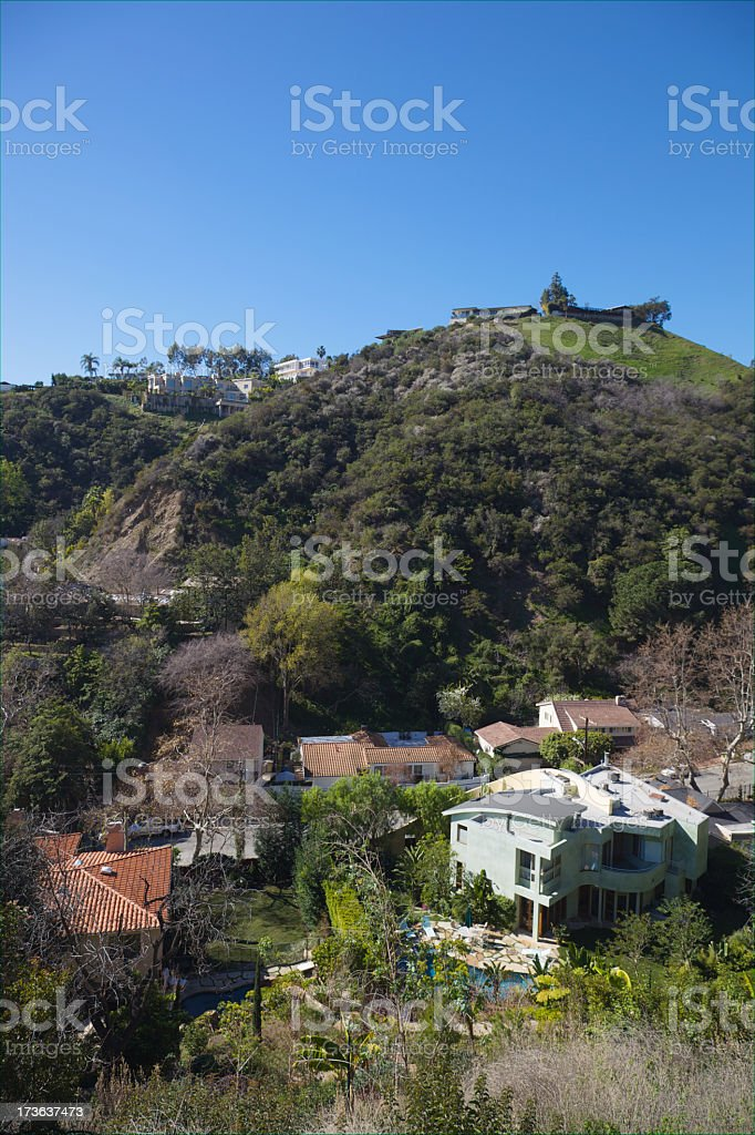 Hillside View of Mansions XXXL royalty-free stock photo