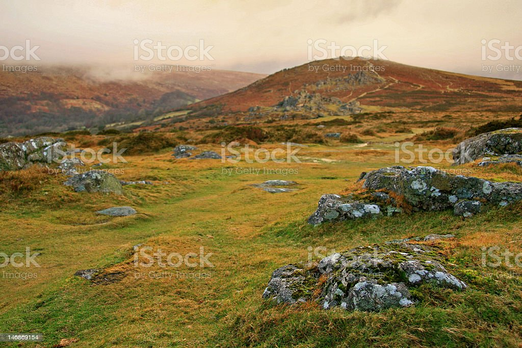 Hillside view stock photo
