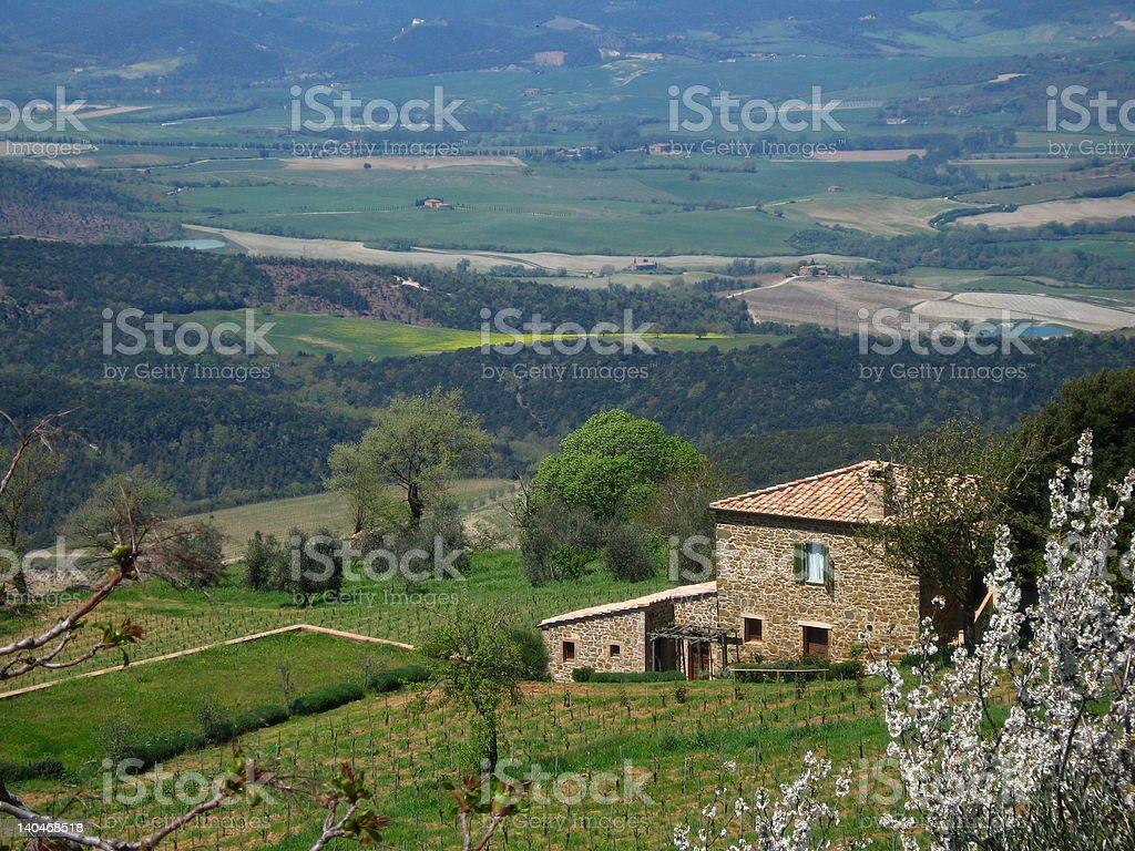 Hillside Villas na Toscana foto royalty-free