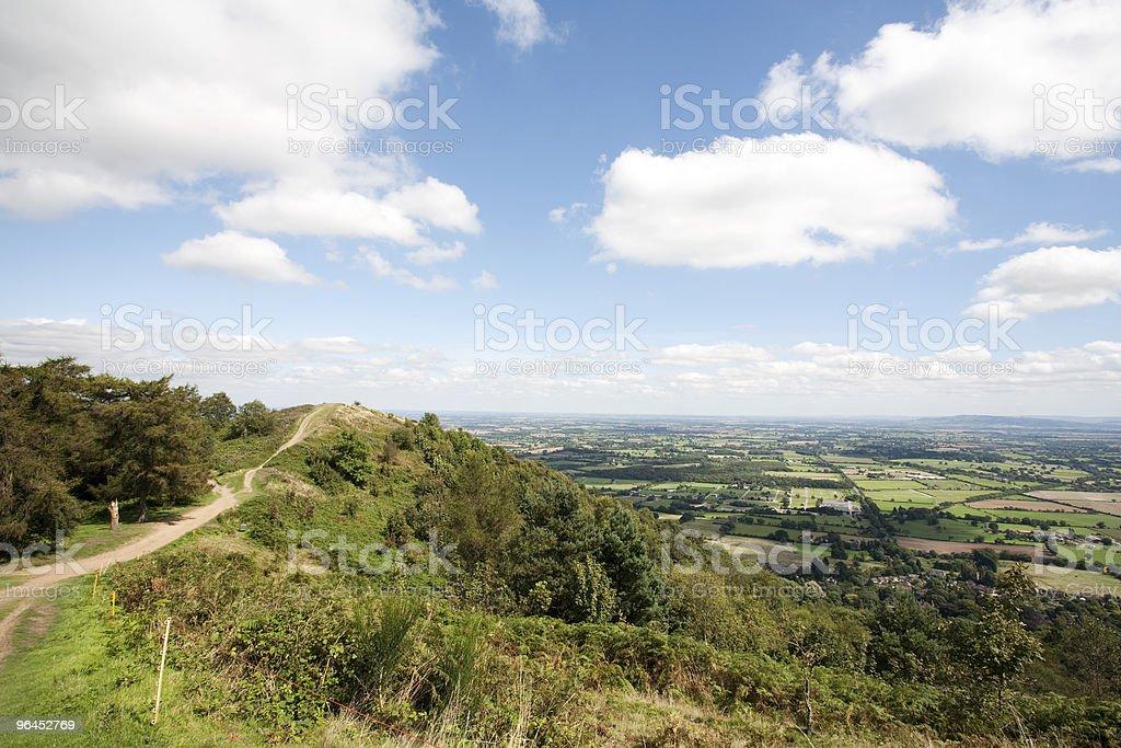 hillside walk stock photo