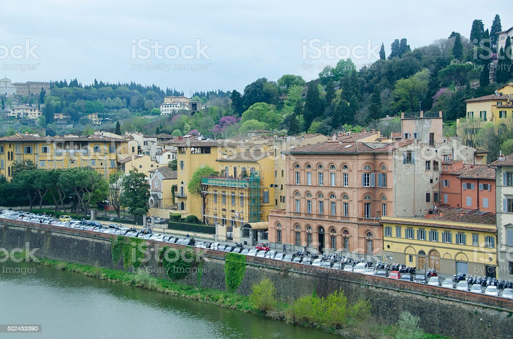 Hillsides of Florence, Italy stock photo