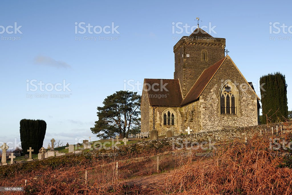 Hilltop Church stock photo