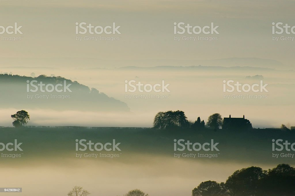 Hilltop house royalty-free stock photo